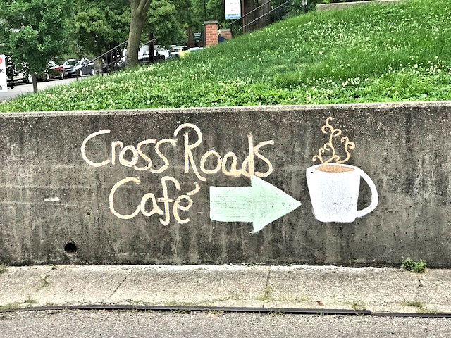 chalk sign on wall